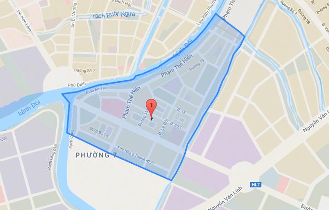 Bản đồ Khu dân cư Phú Lợi quận 8 - Yeshouse