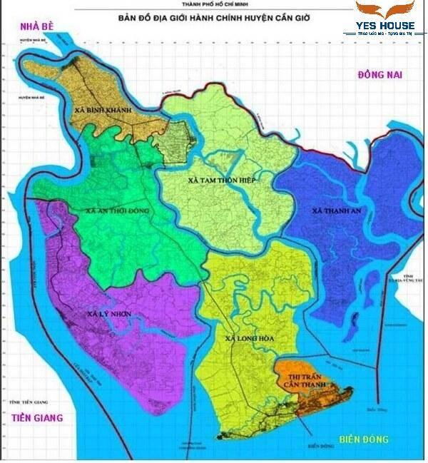 Bản đồ hành chính huyện Cần Giờ năm 2021 - Quy hoạch huyện Cần Giờ - Yeshouse