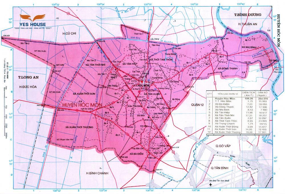 Bản đồ quy hoạch huyện Hóc Môn giai đoạn 2021-2030 - Yeshouse