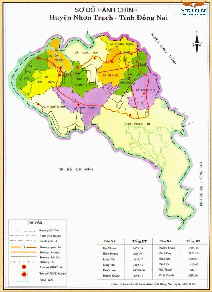 Bản đồ quy hoạch Nhơn Trạch (Đồng Nai) năm 2021 - Yeshouse