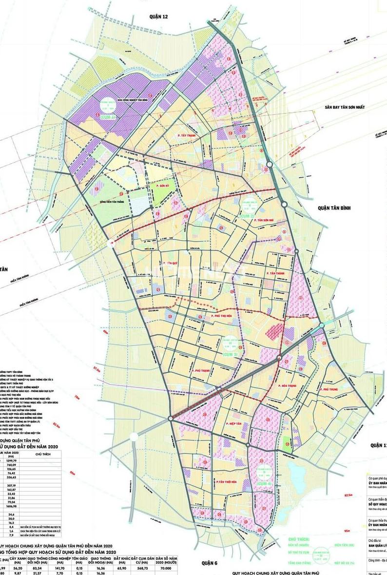 Bản đồ hành chính quận Tân Phú - Yeshouse