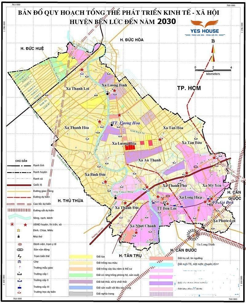Bản đồ quy hoạch huyện Bến Lức mới nhất (cập nhật bởi Yeshouse).