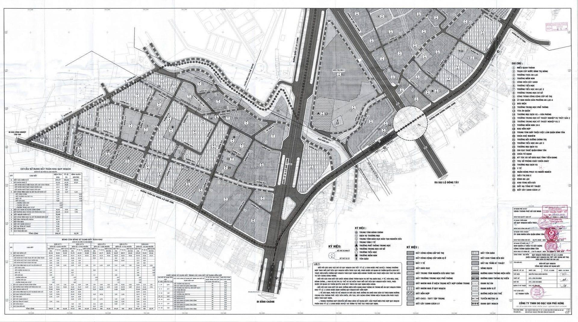 Bản đồ quy hoạch khu dân cư ngã ba An Lạc - Thông tin quy hoạch Bình Tân - Yeshouse