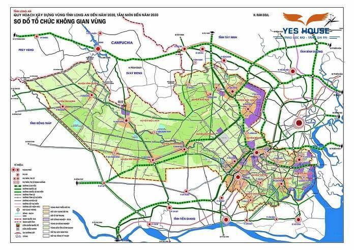 Bản đồ quy hoạch tỉnh Long An tầm nhìn đến năm 2030 - Yeshouse