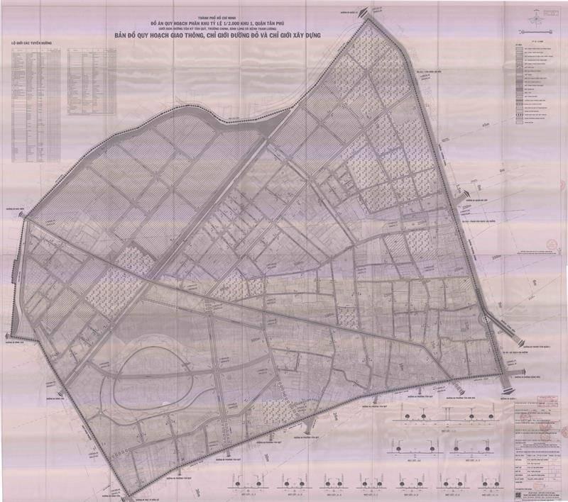 Bản đồ quy hoạch giao thông, chỉ giới đường bộ và xây dựng phân khu 1 - Thông tin quy hoạch Tân Phú - Yeshouse