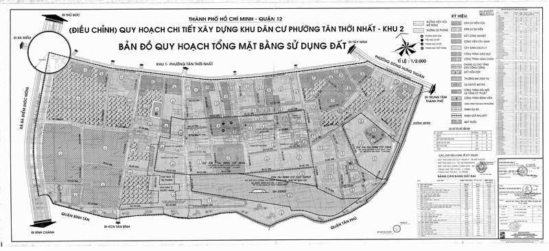 Bản đồ quy hoạch khu 2 - Quy hoạch phường Tân Thới Nhất - Yeshouse