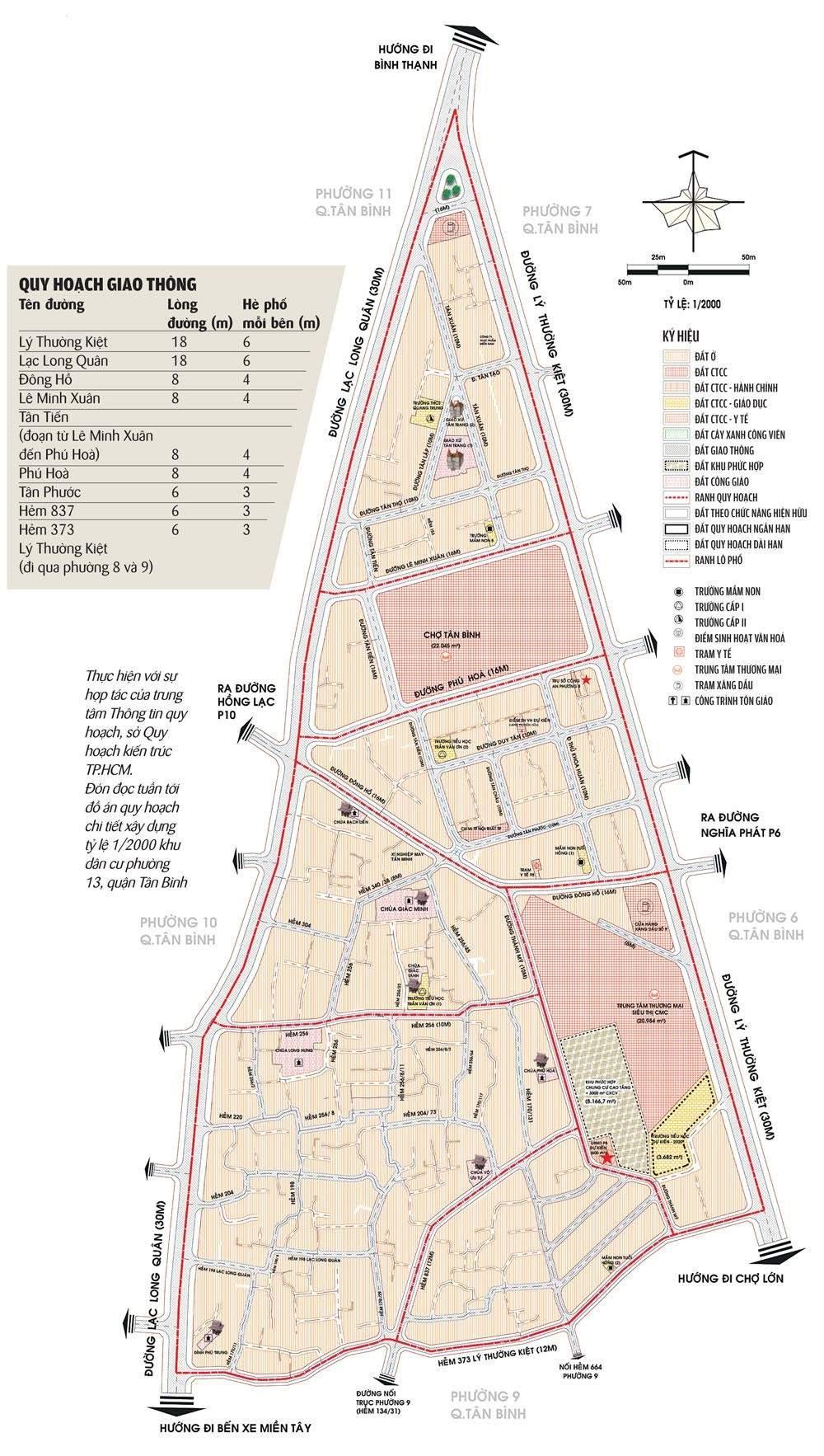 Bản đồ quy hoạch phường 8 quận Tân Bình với tỷ lệ 1/2000 - Yeshouse