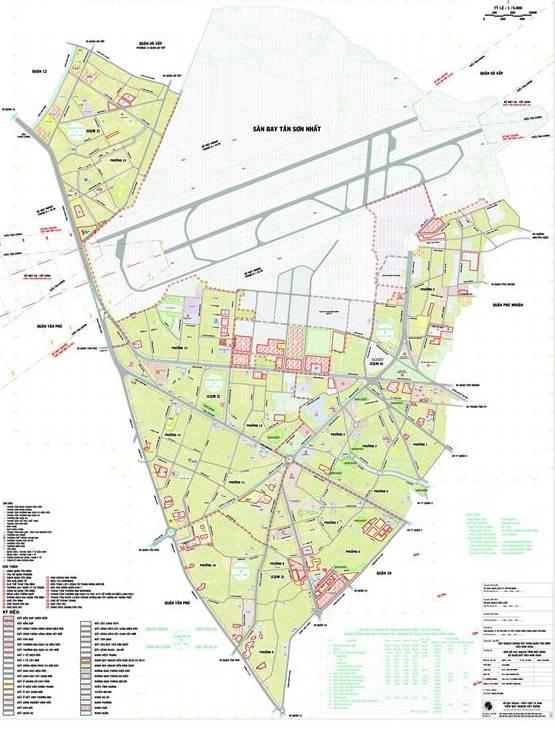 Bản đồ quy hoạch quận Tân Bình đến năm 2025 - Yeshouse