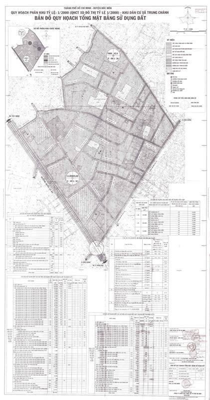 Bản đồ quy hoạch tổng mặt bằng sử dụng đất xã Trung Chánh năm 2021 - Yeshouse