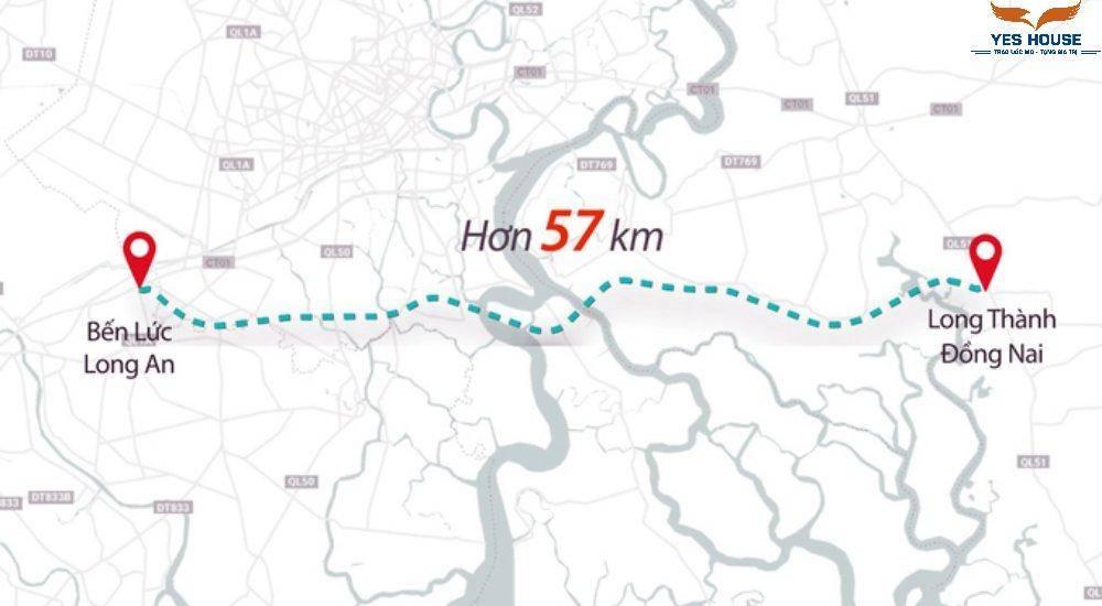 Cao tốc Bến Lức - Long Thành có đi qua địa bàn huyện Nhơn Trạch - Yeshouse