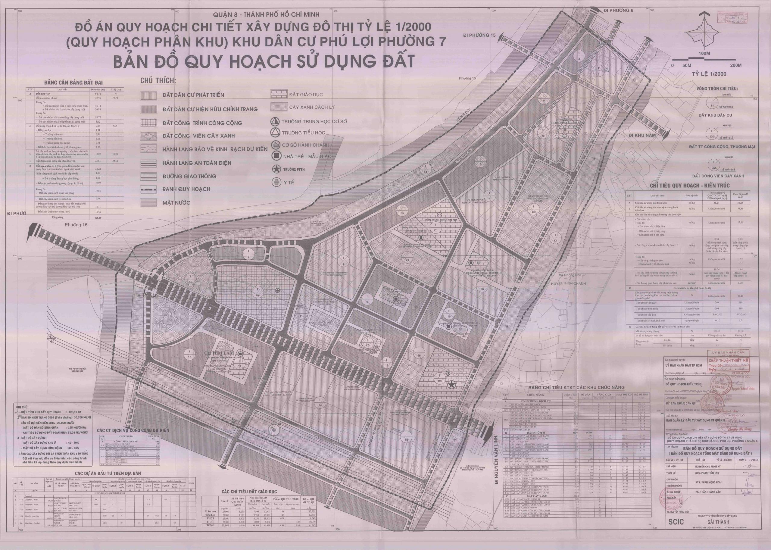 Bản đồ quy hoạch sử dụng đất tại Khu dân cư Phú Lợi quận 8 - Yeshouse