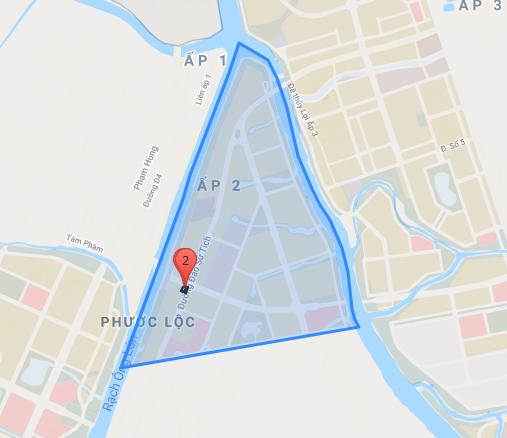 Bản đồ hành chính KDC Phước Lộc (ảnh bản quyền Yeshouse) - Khu dân cư Phước Lộc