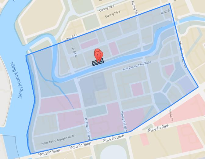 Bản đồ quy hoạch của Khu huyện lỵ Nhà Bè (ảnh bản quyền Yeshouse tháng 10/2021).