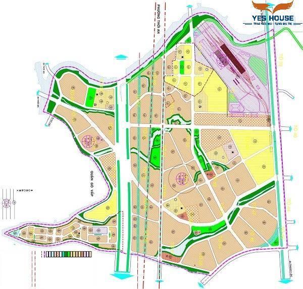 Bản đồ quy hoạch khu dân cư số 1 thuộc quy hoạch phường Thạnh Xuân - Yeshouse