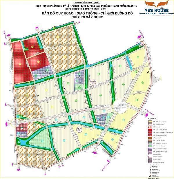 Bản đồ quy hoạch khu dân cư số 2 thuộc quy hoạch phường Thạnh Xuân - Yeshouse