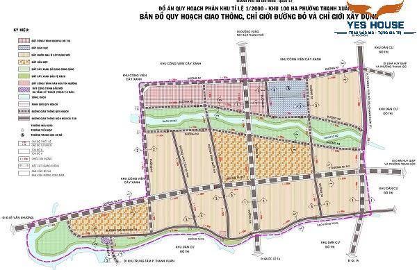 Bản đồ quy hoạch khu dân cư số 3 thuộc quy hoạch phường Thạnh Xuân - Yeshouse