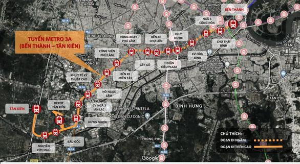 Tuyến số 3A có 1 nhà ga đặt tại Khu y tế kỹ thuật cao quận Bình Tân - Quy hoạch đường sắt đô thị - Yeshouse