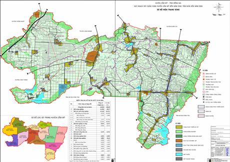 Bản đồ quy hoạch huyện Cẩm Mỹ