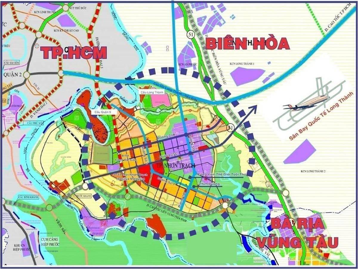 Bản đồ ranh giới Nhơn Trạch