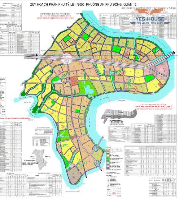 Bản đồ quy hoạch tổng thể phường An Phú Đông - Yeshouse