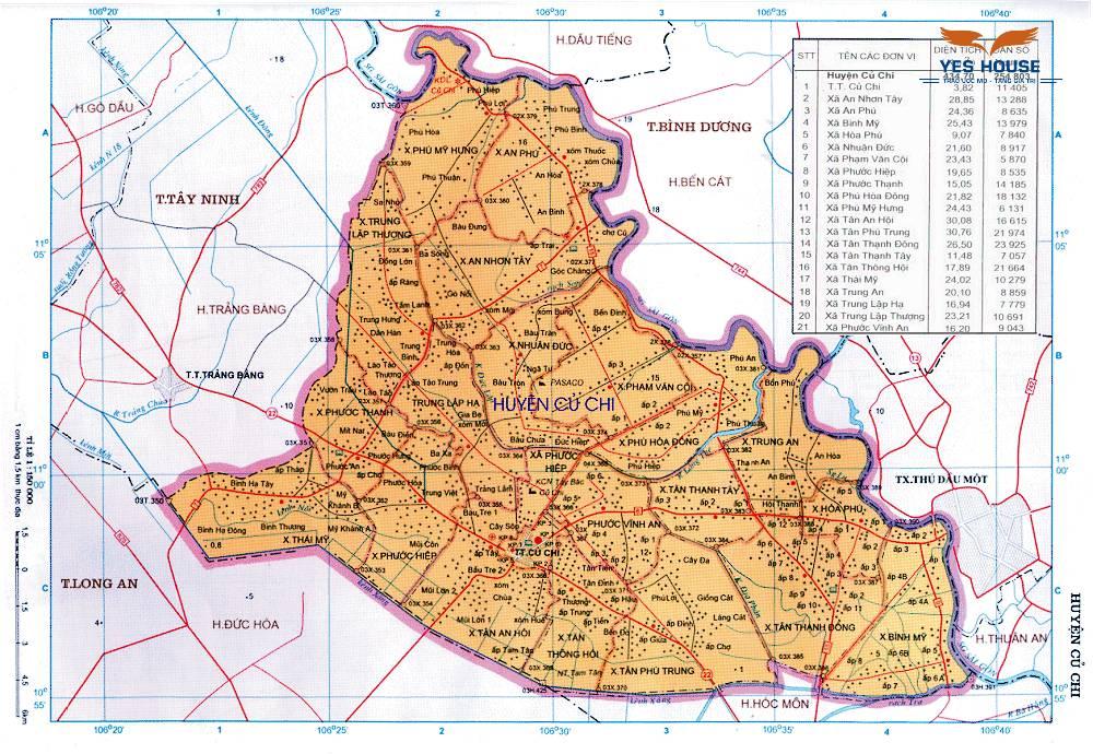 Bản đồ quy hoạch huyện Củ Chi đến năm 2030- Yeshouse