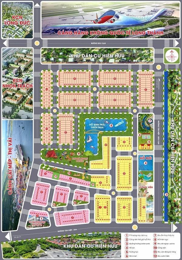 so do phan lo Long Thành Airport City