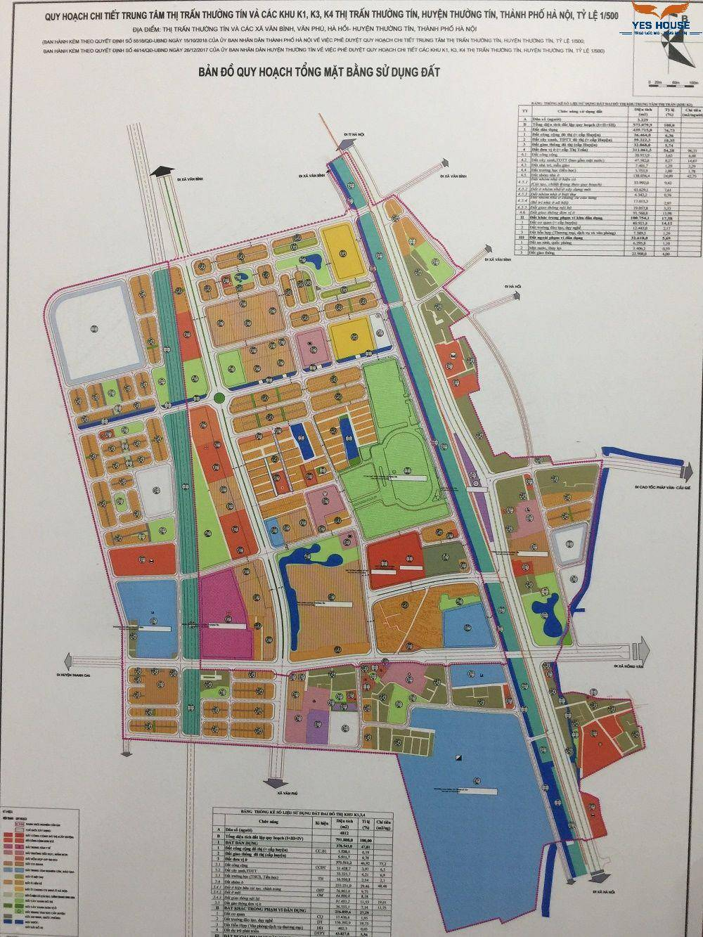 Bản đồ quy hoạch 1 500 tổng mặt bằng sử dụng đất Thường Tín - yeshouse