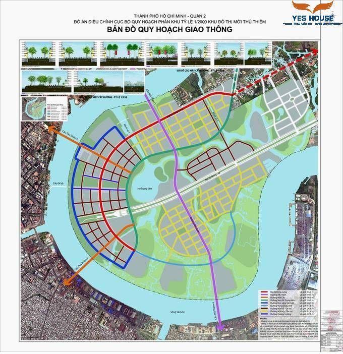 Bản đồ quy hoạch giao thông 1/2.000 khu đô thị mới Thủ Thiêm - yeshouse