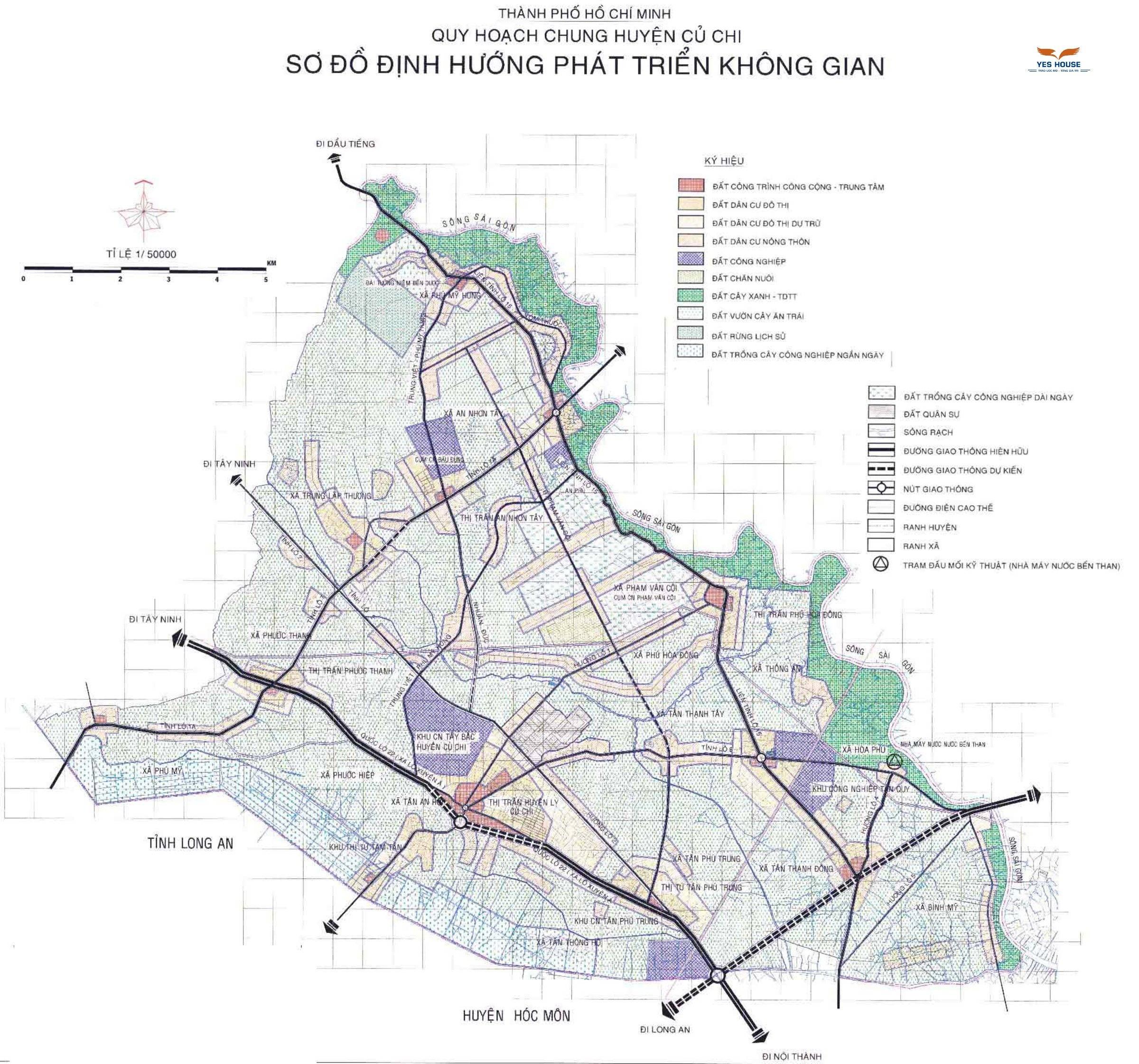 Sơ đồ định hướng phát triển không gian huyện Củ Chi đến năm 2030 - Yeshouse