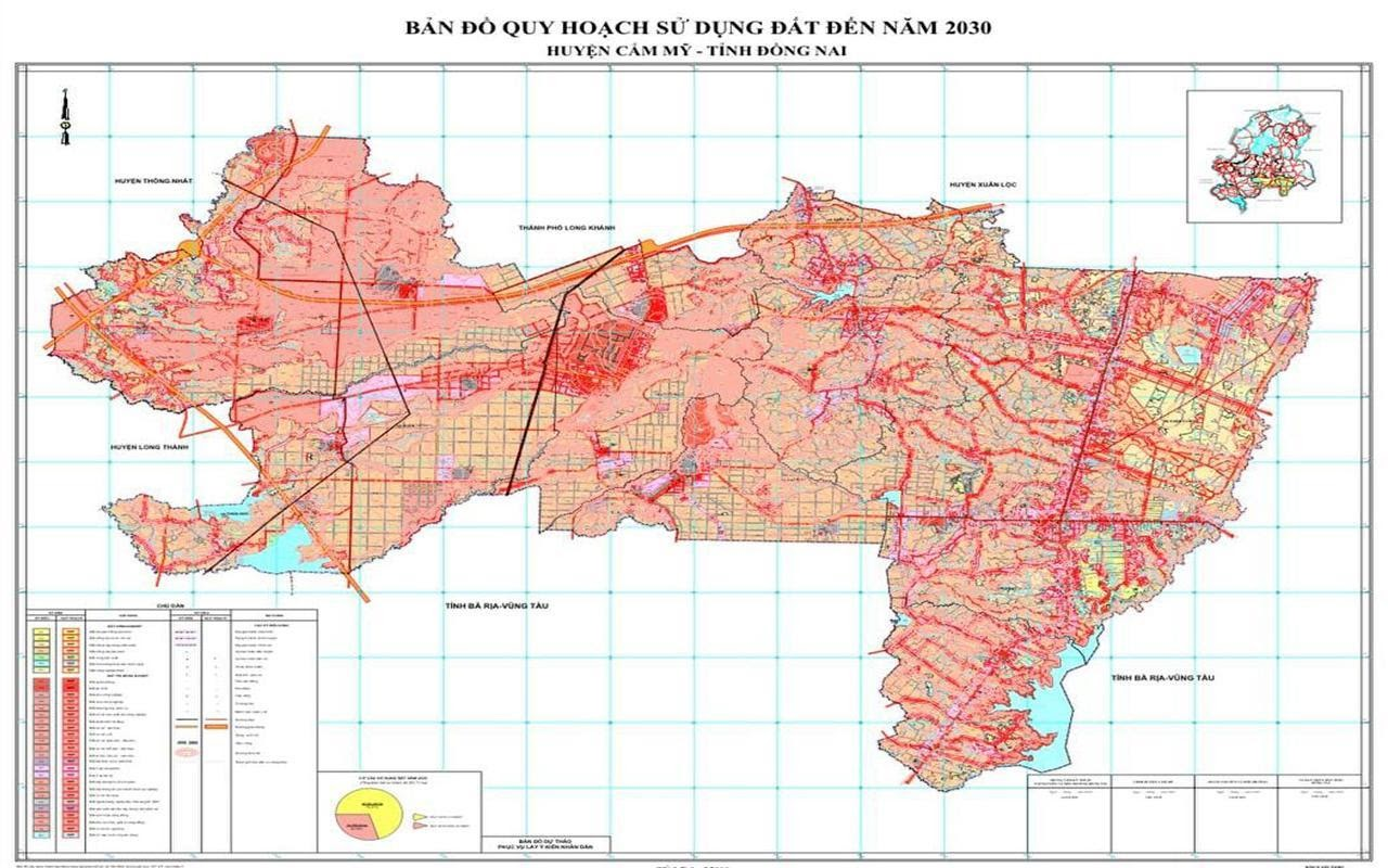 Bản đồ quy hoạch huyện Cẩm Mỹ (mới nhất)