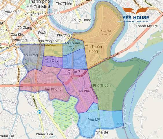 Bản đồ quy hoạch tổng thể quận 7 - Yeshouse