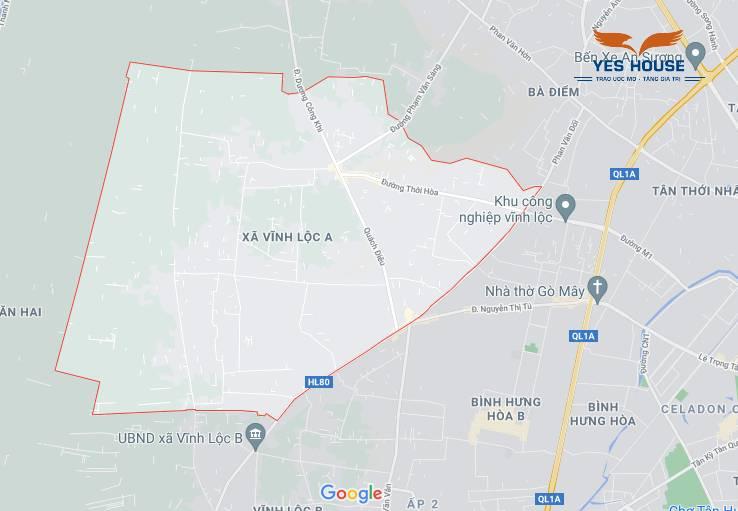 Bản đồ tổng thể xã Vĩnh Lộc A - Quy hoạch xã Vĩnh Lộc A - Yeshouse