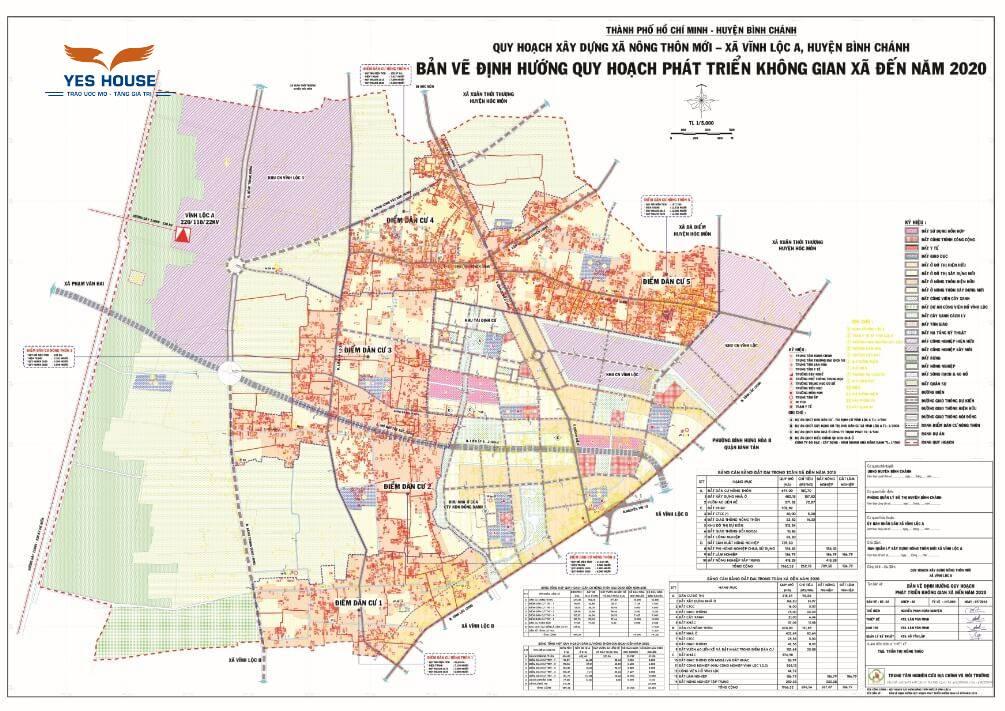 Bản vẽ định hướng quy hoạch phát triển không gian xã Vĩnh Lộc A đến năm 2020 - Yeshouse