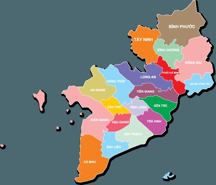 Long An nằm tiếp giáp nhiều tỉnh thành