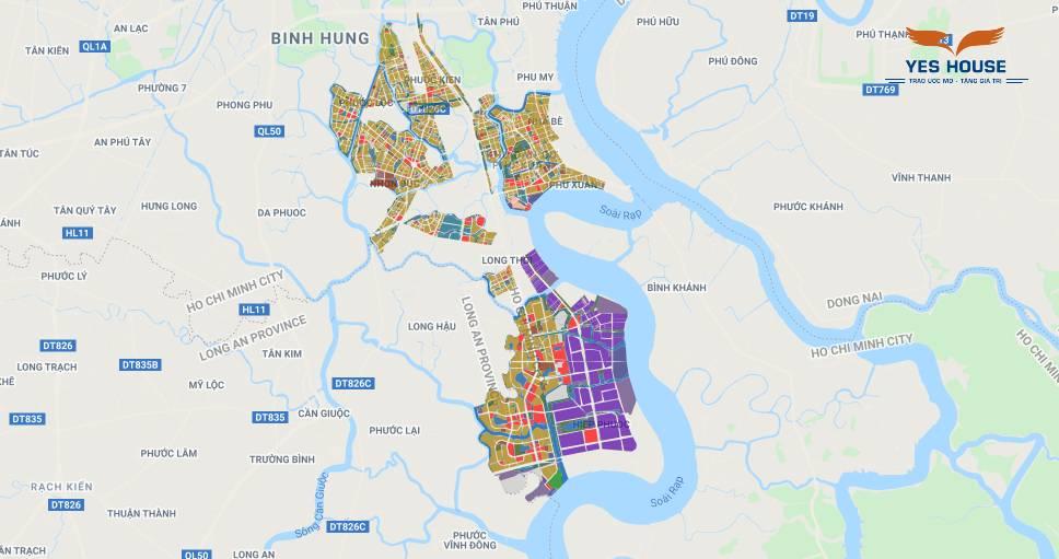 Bản đồ quy hoạch huyện Nhà Bè giai đoạn 2020-2025 - Yeshouse