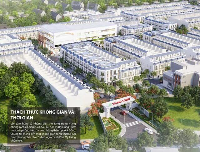 Phối cảnh dự án Young Town Đức Hòa Long An