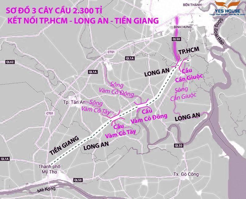 3 cây cầu tiền tỉ kết nối TP HCM - Long An - Tiền Giang - yeshouse